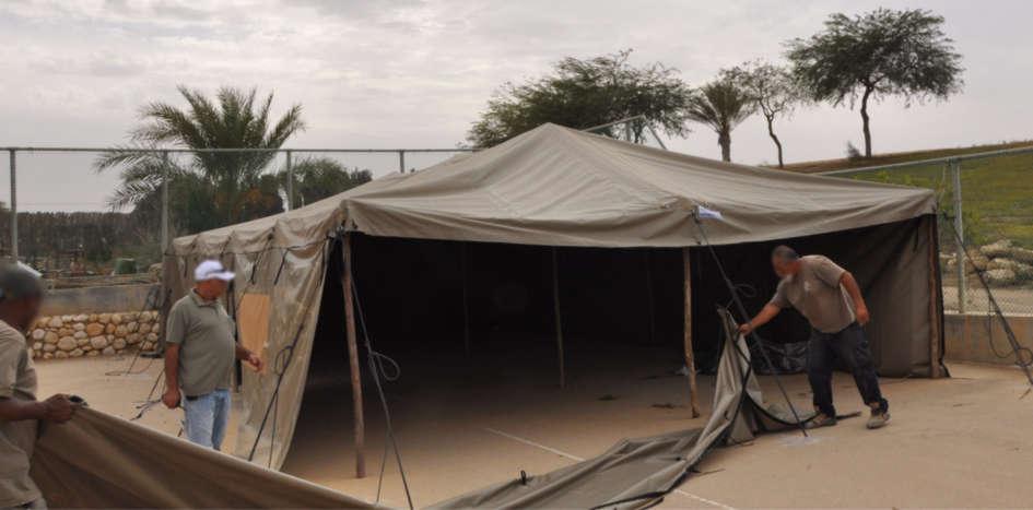 אוהלי אירוח בשטח
